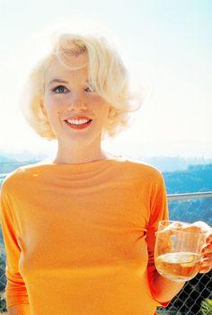 marilyn monroe in orange
