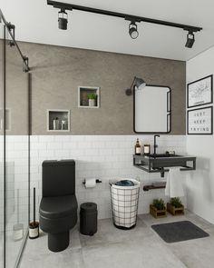 Luxury Bathroom Vanities, Bathroom Design Luxury, Bathroom Interior, Modern Bathroom, Industrial Bathroom Design, Minimal Bathroom, Shiplap Bathroom, Bathroom Black, Small Bathroom