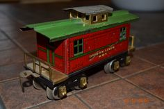 Dorfan Tinplate Caboose Standard Gauge, Toy Trains, Real Model, Christmas Train, Wooden Toys, Awesome, Outdoor Decor, Trains, Woodworking Tools