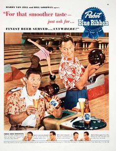 1950 Ad Pabst Blue Ribbon Beer Milwaukee Brewing Harry von Zell Bill Goodwin