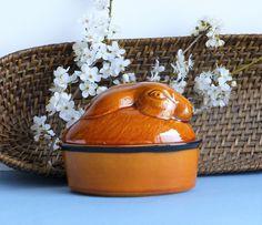 French Vintage GEO Rabbit Terrine. Wild Hare Pate Dish. Vintage Brown Ceramic Rabbit Pate Bowl. Small Pate Dish. Rabbit Trinket Dish. by JadisInTimesPast on Etsy