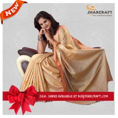 Shop online the best handloom silk saris, made by the tribal people of Jharkhand at affordable cost. Enrich your beauty and personality with tasar silk style statement. Click to open the Tasar Silk Saris Showcase: http://www.buyjharcraft.com/index.php/shop/women-handloom-products/tasar-silk-sarees.html
