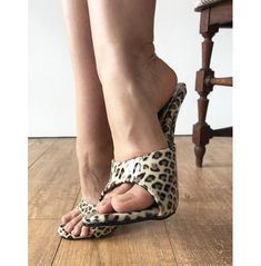 Leopard Patent Sexy Mistress Hi Heel Stiletto Fetish Slipper Sl – Refuse to be Usual Sexy Legs And Heels, Hot High Heels, High Heel Boots, Feet Soles, Women's Feet, Lingerie Heels, Cute Sandals, Sexy Sandals, Shoes Sandals