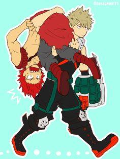Boku no Hero Academia // Kirishima XD Bakugou
