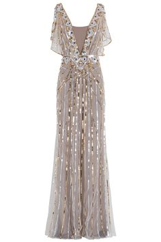 Temperley London sequin wedding dress.