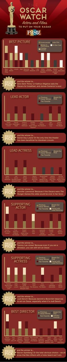 2013 OSCARS WATCH –   and the winner is …