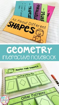 This geometry interactive notebook includes activities for quadrilaterals, 3D shapes, types of lines, angles and types of triangles! It is perfect for 2nd, 3rd and 4th grade!