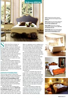 Simon Horn's upholstered Firenze bed simonhorn.com Period Ideas October 2015