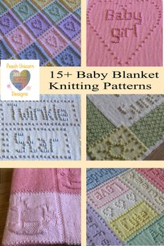 Unique Knitting Patterns for Baby Blankets Lace Knitting Patterns, Knitting Blogs, Crochet Blanket Patterns, Knitting Ideas, Free Knitting, Knitting Projects, Baby Knitting, Knitted Blankets, Baby Blankets