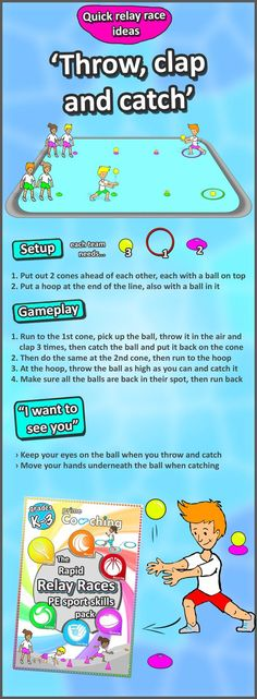 • PE throwing & catching skills • Get your kids racing and developing their fundamental sport co-ordination skills with these awesome relay race variations to try out in your next lesson! check them all out here :)