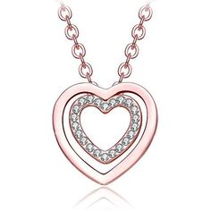 Valentines Day Gift for Her Eternal Love Womens Heart Pendant Necklace Crystal #ValentinesGift