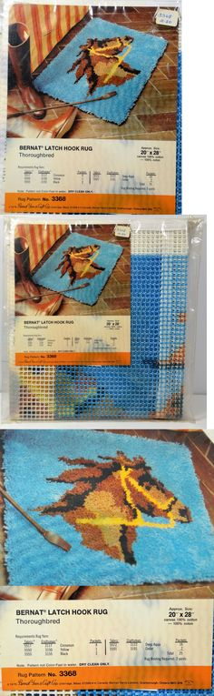 Latch Hooking Kits 28148: Bernat Thoroughbred Horse Vintage Latch Hook Rug Kit 20 X 28 New 1976 -> BUY IT NOW ONLY: $64.95 on eBay!