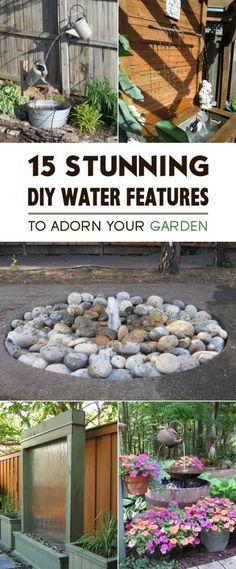 15 Stunning DIY Water Features to Adorn Your Garden