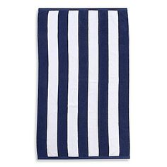 Equal parts stylish and luxurious, the Wamsutta Resort Stripe Beach Towel is perfect for relaxing by the pool or on the beach. This towel is crafted of cotton for exceptional softness, and it features a classic vertical stripe pattern. Blue Towels, Pool Towels, Cotton Towels, Luxury Beach Towels, Pool Lounge, Beach Adventure, Textile Company, Navy, Stripe Pattern