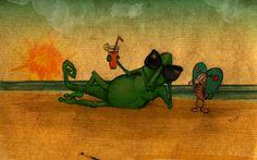 Dante chameleon by Beatrice Bortoletti, via Behance