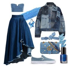 A fashion look from November 2017 featuring denim top, patched denim jacket and ankle length skirt. Browse and shop related looks. Denim Jacket Patches, Ankle Length Skirt, Thierry Mugler, Denim Top, Lime Crime, Bobbi Brown, Madewell, Gucci, Fashion Looks
