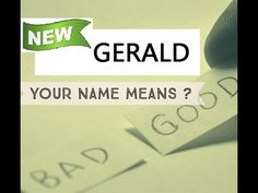 GERALD , Know Anyone By their Name  ★҉ Neimology Science ® is the study of the placement of letters in a name, that shows us how to find the patterns that will reveal natural tendencies in a person character, thinking, feeling,learning style and so much more.