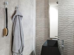 Contour Concrete Look Wall Tile By Earp Bros. Tile Range Includes Contour White, Contour Beige, Contour Natural and Contour Gray. Contact your local Earp Bros Showroom for a tile sample or more information. Baltimore, Pink Tiles, Guest Bathrooms, Master Bathroom, American Modern, Painted Doors, Work Inspiration, Wall Treatments, Towel Set