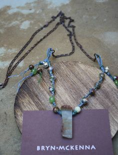 BRYN MCKENNA - Aussie Jade Rock on Waxed Linen and Rustic Chain Long Necklace 32in, $63.00 (http://brynmckenna.com/aussie-jade-rock-on-waxed-linen-and-rustic-chain-long-necklace-32in/)
