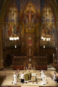 Holy Mass at the Cathedral of the Madeleine in Salt Lake City, Utah