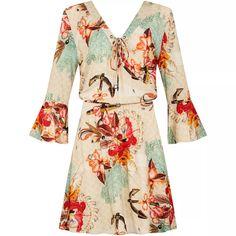 Vestido Rayon Bali Floral Marinho - Lezalez