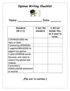 A Success Criteria for Persuasive Writing Worksheets