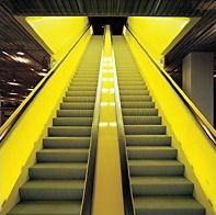 The escalator at Seattle's Central Library. Designed by Rem Koolhaas and Joshua Prince-Ramus. Library Architecture, Architecture Design, Seattle Central Library, Balustrade Design, Ryue Nishizawa, Rem Koolhaas, Seattle Times, Entry Hallway, Artwork Images