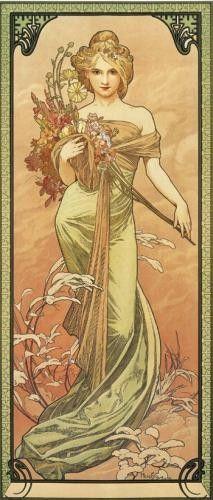 Alphonse Mucha_Printemps_1900