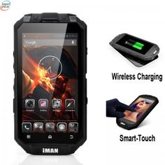 iMAN Wireless Charging Rugged Smartphone has a Quad Core CPU, Waterproof Rating, Rear Camera and even Smart-Touch Cheap Android Phones, Pc Android, Android Smartphone, Cell Phones In School, Cell Phones For Sale, Top Computer, Mobile Computing, Smartphones For Sale