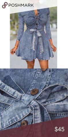 Denim Bodycon  Women Sexy Long Sleeve Bodycon Club Denim Jean Mini Dress Dresses