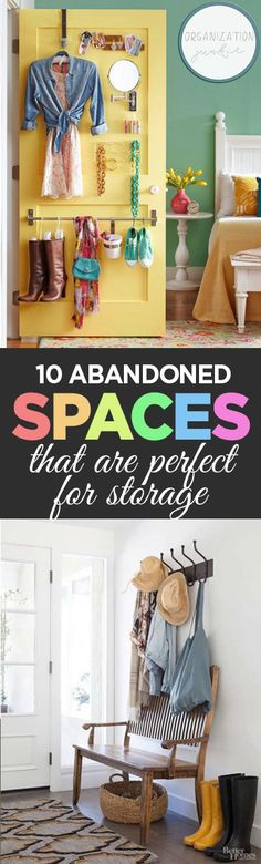 Find all kinds of DIY Storage Solution ideas around your house (that you never even thought of before!) in this post on 10 Abandoned Spaces That Are Perfect for Storage. Start decluttering for 2018 TODAY!
