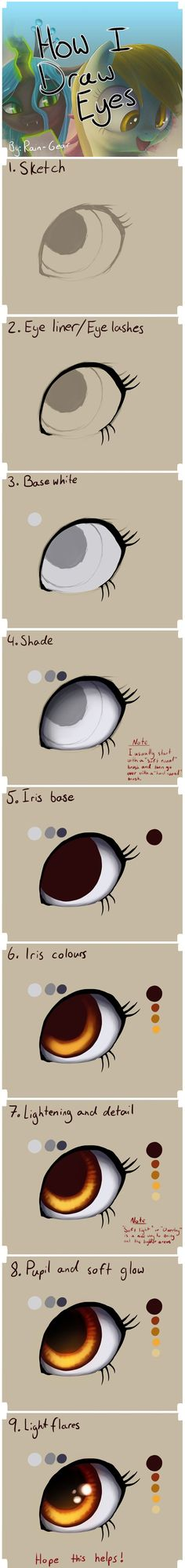 How I Draw: Eyes by Rain-Gear. on How I Draw: Eyes by Rain-Gear.deviant… on How I Draw: Eyes by Rain-Gear.deviant… on - Digital Painting Tutorials, Digital Art Tutorial, Art Tutorials, Drawing Tutorials, Drawing Techniques, Drawing Tips, Drawing Ideas, Art Drawings Sketches, Cool Drawings