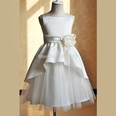 Cheap Flower Girl Dresses, Buy Directly from China Suppliers: Beige color spaghetti straps fluffy tulle ball gown flower girl dresses for weddings evening party NOTICE: 3T:90CM &nbs