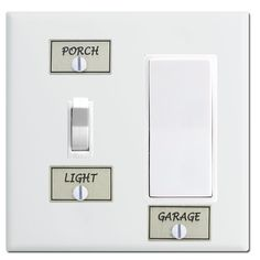 Silver Switch ID Labels For Light Switchplate Covers