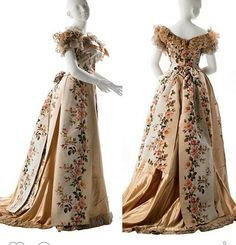 Evening dress, by the House of Worth, ca. 1902 Evening dress, by the House of Worth, ca. 1900s Fashion, Edwardian Fashion, Vintage Fashion, Edwardian Era, Gothic Fashion, Old Dresses, Trendy Dresses, Antique Clothing, Historical Clothing
