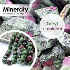 Zoizyt z rubinem | Royal-Stone blog Kulfi, Plum, Blueberry, Fruit, Stone, Food, Berry, Rock, Eten