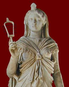 Marble statue of the Egyptian goddess holding a sistrum. Found in Tivoli, 117-138 CE. Rome, Palazzo Nuovo.
