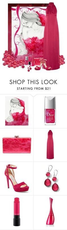 """Wrapped in Rasberries"" by hubunch ❤ liked on Polyvore featuring Assouline Publishing, Christian Dior, Edie Parker, Rachel Zoe, Jimmy Choo, Ippolita, MAC Cosmetics, Kenzo, contest and rasberries"