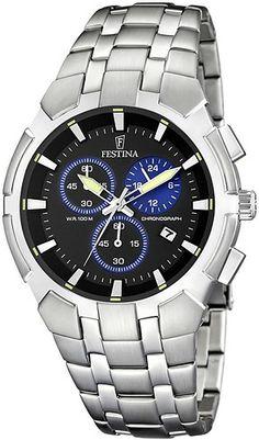 Zegarek męski Festina F6812-3 - sklep internetowy www.zegarek.net Watch Faces, Brass Metal, Clothing Company, Casio Watch, Chronograph, Omega Watch, Watches, Elegant, Accessories