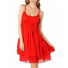 vestidos casuales rojos 2014 cortos 1