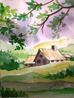 Easy Watercolor Paintings Of Spring Landscapes Easy watercolor paintings