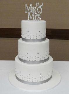 Mr and Mrs Cake topp