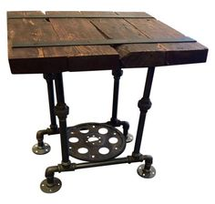 Steampunk Side Tables- A Pair on Chairish.com