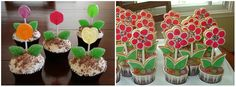 little girl flower birthday party ideas | ... parties and i thought these two flower pot cupcake ideas were so