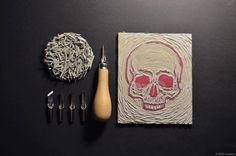 Things Organized Neatly: SUBMISSION: Taking control of the linocutting...