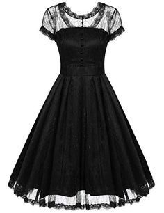ACEVOG Women Crochet Lace Vintage Swing Rockabilly Pinup…