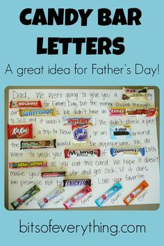 Candy Bar Letters- such a fun gift idea!!