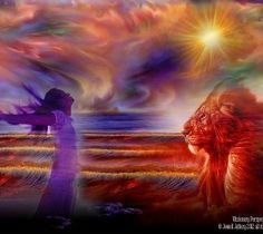 When I encounter the King all I can do is to worship Him.....