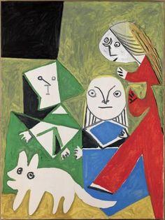 Picasso: Las Meninas (Isabel de Velasco, María Bárbola i Nicolasito Pertusato), 1957 - Oli sobre tela - MPB 70.476