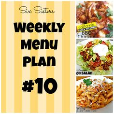 #weeklymenu10 #SixSistersStuff